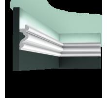 Плинтус белый из полиуретана C324 AUTOIRE, 83x34мм