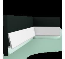 Плинтус белый из дюрополимера SX179 DIAGONAL, 97x29мм