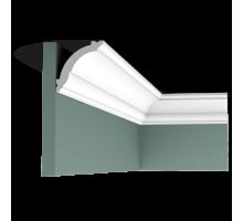 Плинтус белый из дюрополимера CX100 69x71мм