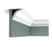 Плинтус белый из дюрополимера CX101 69x71мм