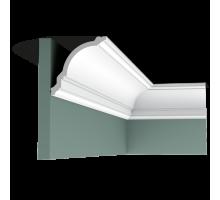 Плинтус белый из дюрополимера CX106 118x117мм