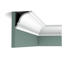 Плинтус белый из дюрополимера CX107 118x117мм