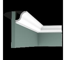Плинтус белый из дюрополимера CX108 54x55мм