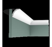 Плинтус белый из дюрополимера CX109 44x44мм