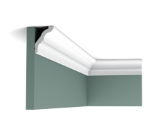 Плинтус белый из дюрополимера CX112 54x38мм