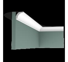 Плинтус белый из дюрополимера CX115 30x29мм
