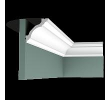 Плинтус белый из флекса C213F 80x80мм