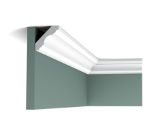 Плинтус белый из флекса C215F 47x47мм