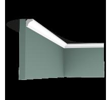 Плинтус белый из флекса C250F 16x16мм