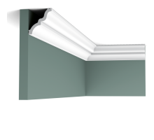 Плинтус белый из флекса C325F MANOIR 65x70мм