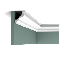 Плинтус белый из полиуретана C200 65x57мм