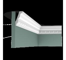 Плинтус белый из полиуретана C212 75x45мм