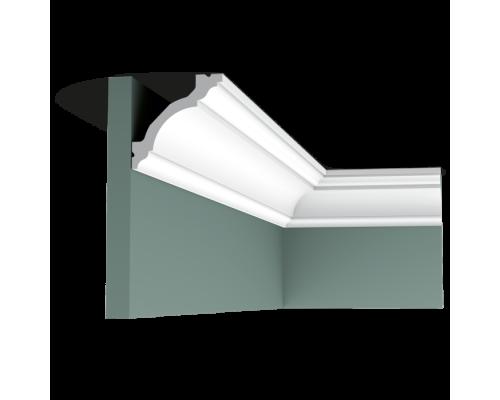 Плинтус белый из полиуретана C213 80x80мм