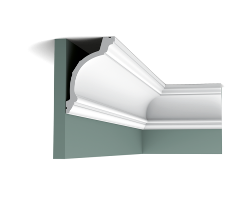 Плинтус белый из полиуретана C217 103x156мм