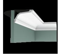 Плинтус белый из полиуретана C220 76x116мм