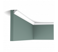 Плинтус белый из полиуретана C250 160x160мм