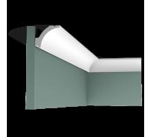 Плинтус белый из полиуретана C260 41x48мм