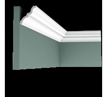 Плинтус белый из полиуретана C325 MANOIR 65x70мм