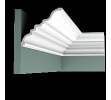 Плинтус белый из полиуретана C327 MANOIR 159x143мм