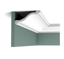 Плинтус белый из полиуретана C331 64x135мм