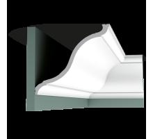 Плинтус белый из полиуретана C335 222x202мм