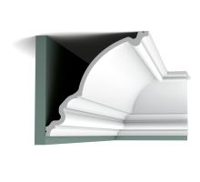 Плинтус белый из полиуретана C336 BA'ROCK 271x266мм