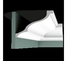 Плинтус белый из полиуретана C337 172x256мм