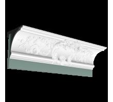 Плинтус белый из полиуретана C338A BA'ROCK  182x182мм