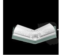 Плинтус белый из полиуретана C338B BA'ROCK 182x182мм