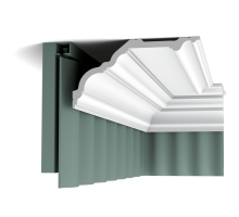 Плинтус белый из полиуретана C340 NOBLESSE 135x256мм