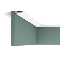 Плинтус белый из полиуретана C360 210x60мм