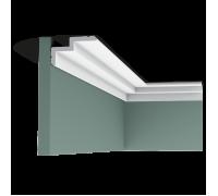 Плинтус белый из полиуретана C390 STEPS 60x100мм