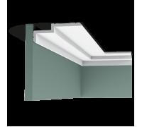 Плинтус белый из полиуретана C391 STEPS 60x160мм
