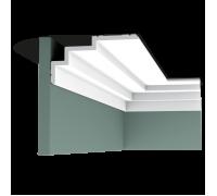 Плинтус белый из полиуретана C392 STEPS 190x100мм