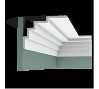 Плинтус белый из полиуретана C393 STEPS 150x210мм
