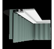 Плинтус белый из полиуретана C395 STEPS 155x31мм