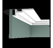 Плинтус белый из полиуретана C396 STEPS 185x61мм