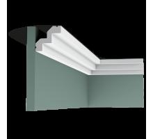 Плинтус белый из полиуретана C602 53x50мм