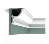 Плинтус белый из полиуретана C901 148x124мм