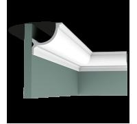 Плинтус белый из полиуретана C902 103x103мм