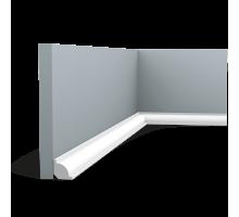 Плинтус белый из дюрополимера CX132F, 20х20мм