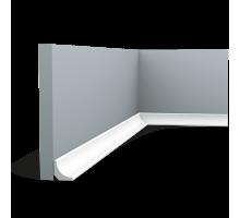 Плинтус белый из дюрополимера CX133, 20х20мм