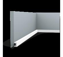 Плинтус белый из дюрополимера CX190 U-PROFILE, 20х30мм