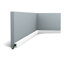 Плинтус белый из дюрополимера CX190F U-PROFILE, 20х30мм