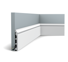 Плинтус белый из дюрополимера SX118 CONTOUR, 18х138мм