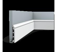 Плинтус белый из дюрополимера SX118F CONTOUR, 18х138мм
