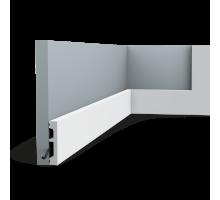 Плинтус белый из дюрополимера SX157F SQUARE, 13х66мм