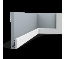 Плинтус белый из дюрополимера SX162F SQUARE, 10х40мм