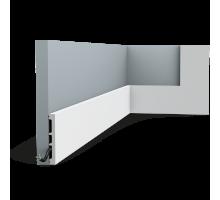 Плинтус белый из дюрополимера SX163F SQUARE, 13х102мм