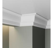 Плинтус белый из МДФ, 40х25,4мм